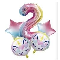 Unicorn 2 Yaş Folyo Balon Seti
