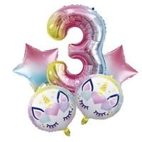 Unicorn 3 Yaş Folyo Balon Seti