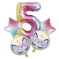 Unicorn 5 Yaş Folyo Balon Seti