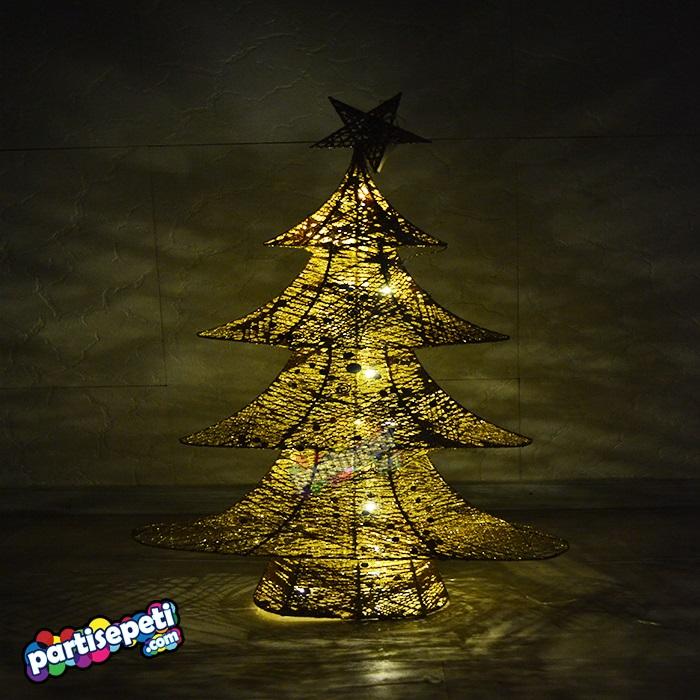 Yılbaşı Işıklı Dekor Süs Çam Ağacı