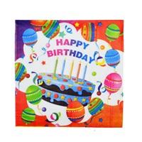 Renkli Happy Birthday Peçete
