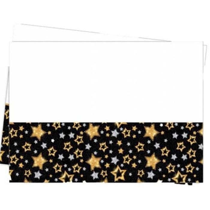 Yıldızlı Siyah Masa Örtüsü