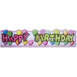 Happy Birthday Banner Balonlu