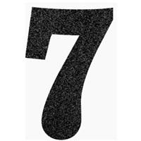 7 Rakam Siyah Simli Ayaklı Pano