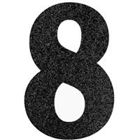 8 Rakam Siyah Simli Ayaklı Pano