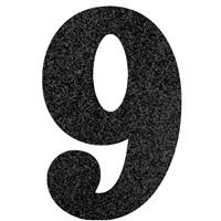 9 Rakam Siyah Simli Ayaklı Pano