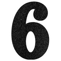 6 Rakam Siyah Simli Ayaklı Pano