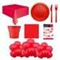Yeni Yıl Kırmızı Doğum Günü Parti Seti