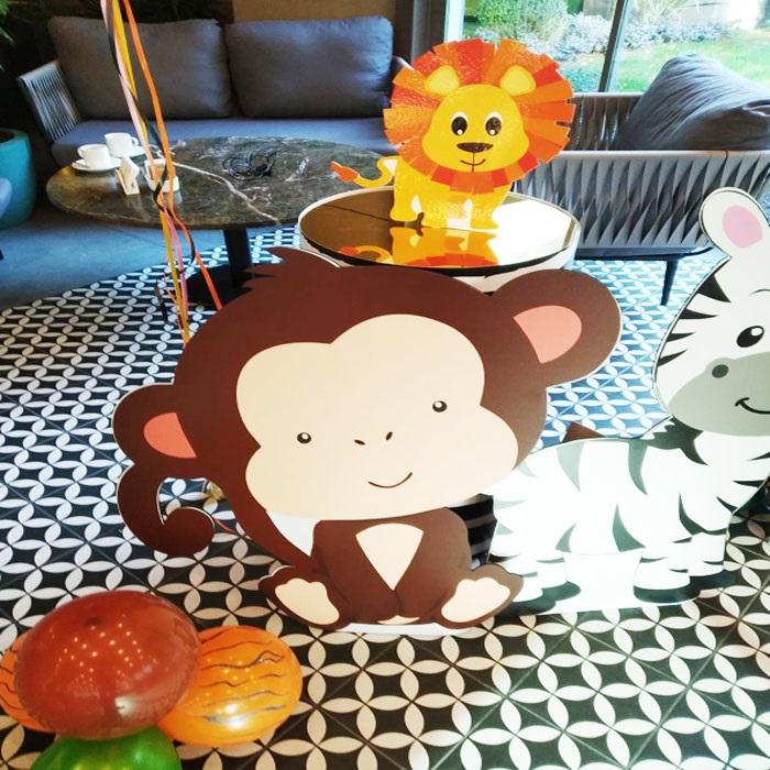 Safari Maymun Dekor Ayaklı Pano