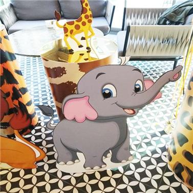Safari Fil Dekor Ayaklı Pano