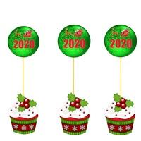 Yılbaşı Cupcake Kürdan Süs Yeşil