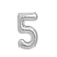 Gümüş 5 Rakam Folyo Balon