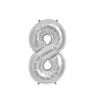 Gümüş 8 Rakam Folyo Balon