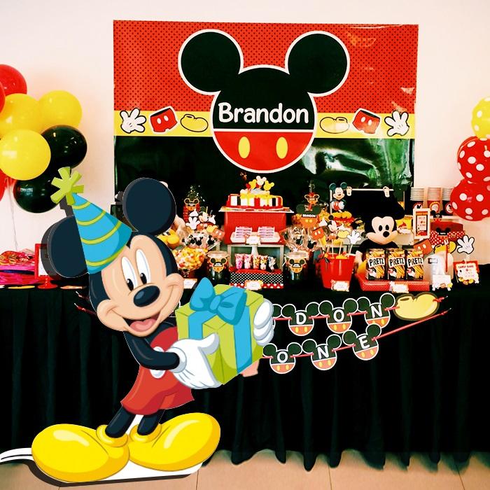 Mickey Mouse Temalı Ayaklı Pano