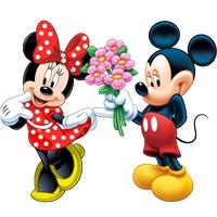 Minnie Mickey Ayaklı Pano