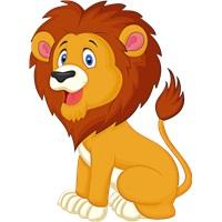 Safari Aslan Ayaklı Pano Küçük