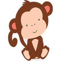 Safari Temalı Maymun Ayaklı Pano