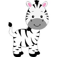 Safari Temalı Zebra Ayaklı Pano