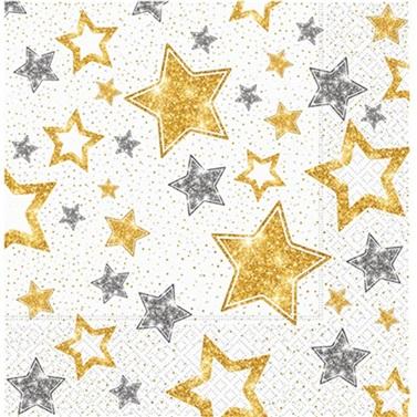 Gold Yıldızlı Peçete