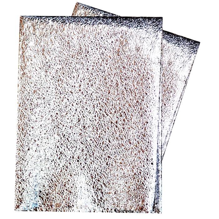 Metalize Kabartmalı Masa Örtüsü Gümüş