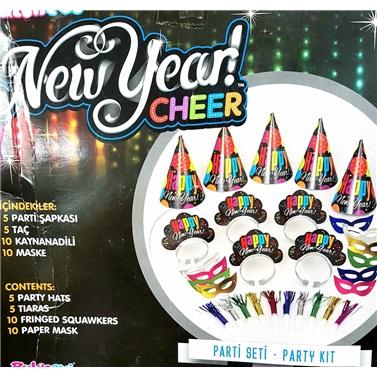 Yılbaşı Happy New Year Parti Seti