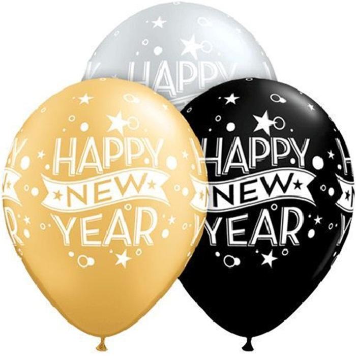 Happy New Year Baskılı Balon