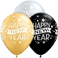 Happy New Year Baskılı Balon