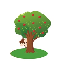 Kırmızı Başlıklı Kız Ağaç Ayaklı Pano