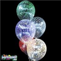 Benekli Şeffaf Karışık Renkli Balon