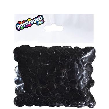 Siyah Metalik Balon Konfetisi