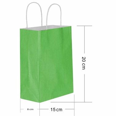 Yeşil İpli Kraft Çanta