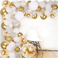 Beyaz Gold Balon Zinciri Seti