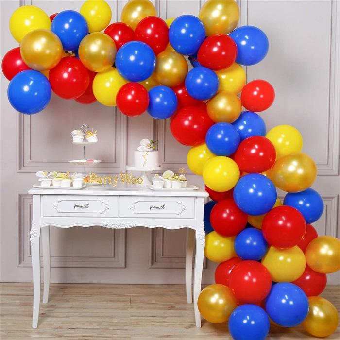 Zincir Balon Seti Kırmızı - Sarı - Lacivert - Gold
