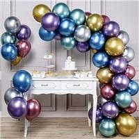 Zincir Balon Seti Karışık Renkli Krom