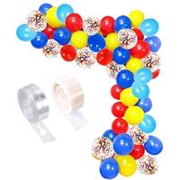 Zincir Balon Seti Karışık Renkli Konfetili