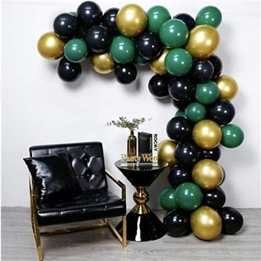 Zincir Balon Seti Gold - Siyah - Yeşil