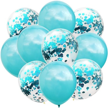 Mavi Konfetili Balon