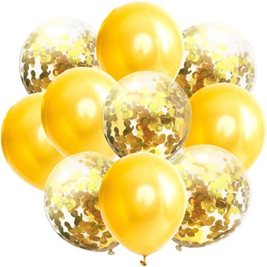 Sarı Konfetili Balon