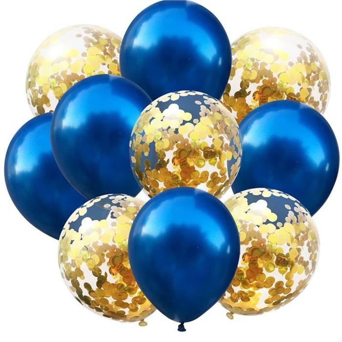 Lacivert Konfetili Balon