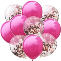 Fuşya Rose Konfetili Balon