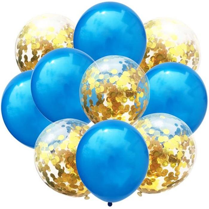 Mavi Gold Konfetili Balon