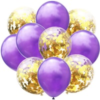 Mor Gold Konfetili Balon