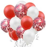 Kırmızı Beyaz Konfetili Balon