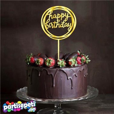 Happy Birthday Pleksi Ayna Pasta Süsü