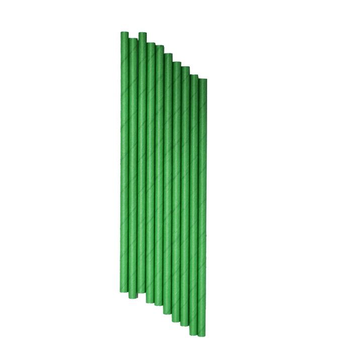 Koyu Yeşil Kağıt Pipet