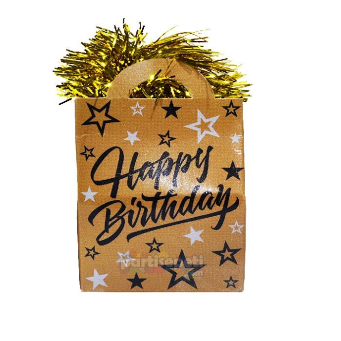 Gold Happy Birthday Balon Ağırlığı