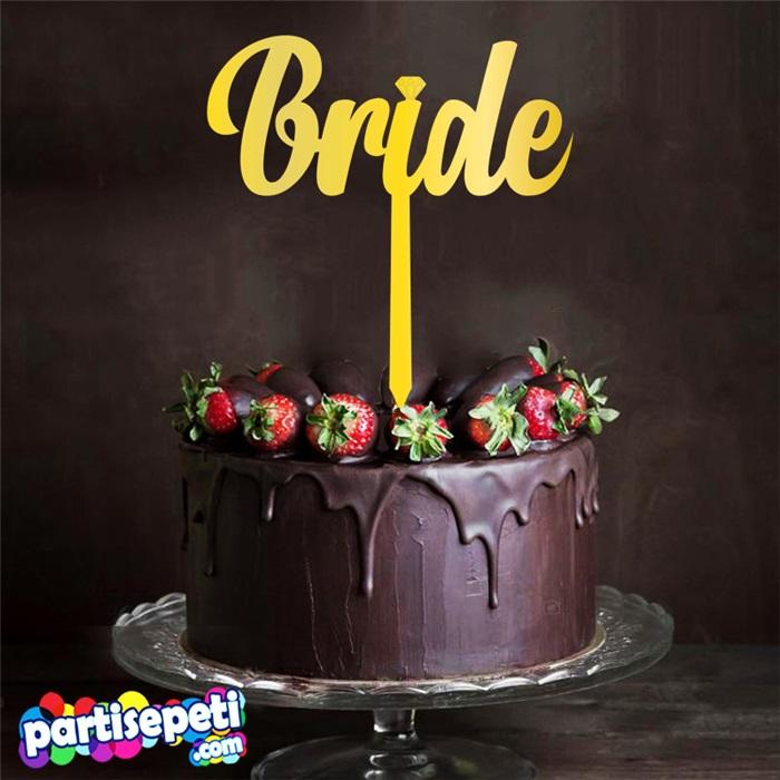 Bride Pleksi Ayna Pasta Süsü