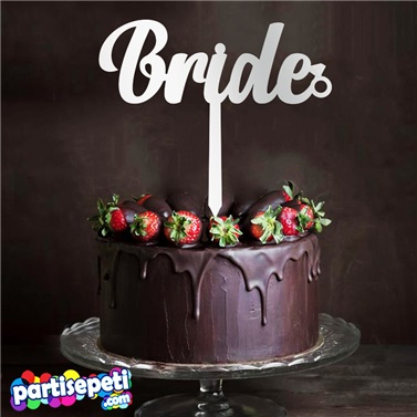 Bride Taşlı Pleksi Ayna Pasta Süsü