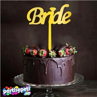 Bride Pleksi Ayna Pasta Süsü 1