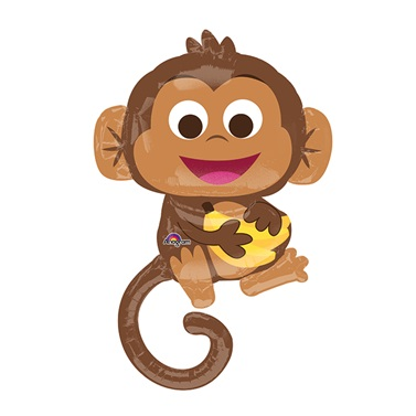 Mutlu Maymun Folyo Balon